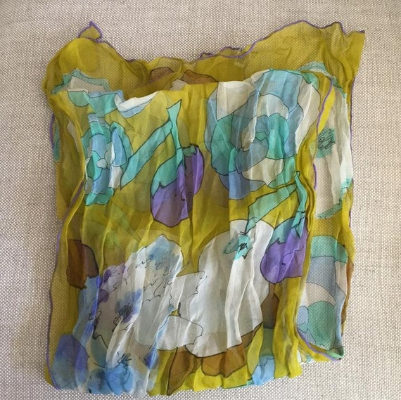Silk chiffon scarf - image 3
