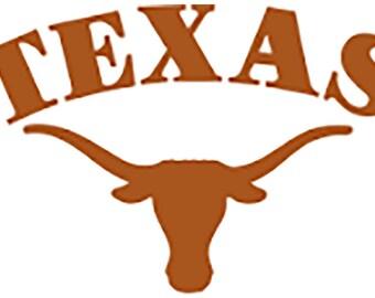 4fade9fea6f Texas Longhorns Vinyl Decal
