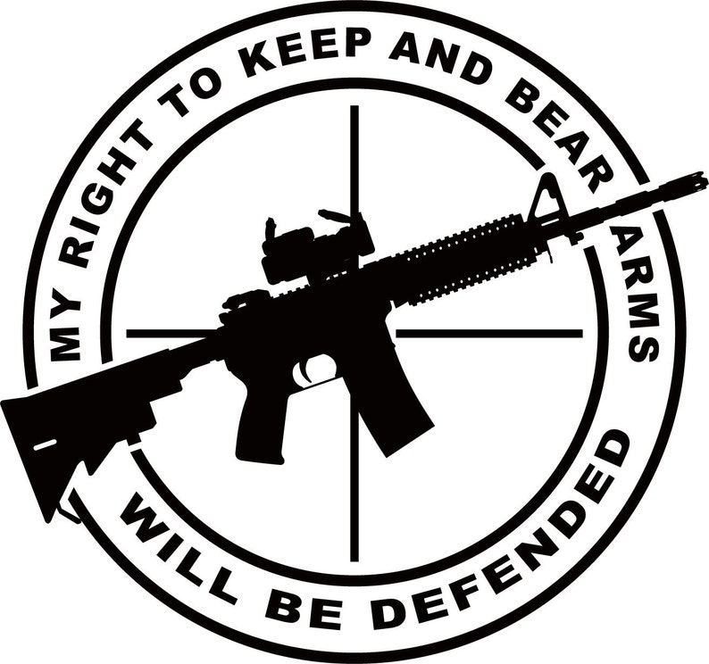 Right To Bear Arms Vinyl Decal