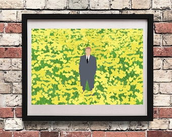 Poster Big Fish Narcisos Daffodils / Instant Download / A5 Size