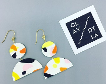 Colorful Polymer Clay Dangle Earring