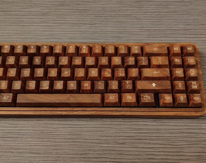 Featured listing image: Wooden Keycaps Cherry MX Switch And Stabilizers Compatible