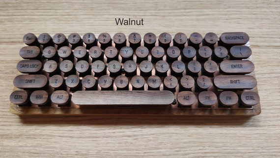 Wooden  Typewriter Keycaps Vintage Style MX compatible