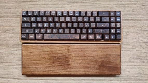 CroLander  Wooden Keyboard  with Typewriter Keycaps