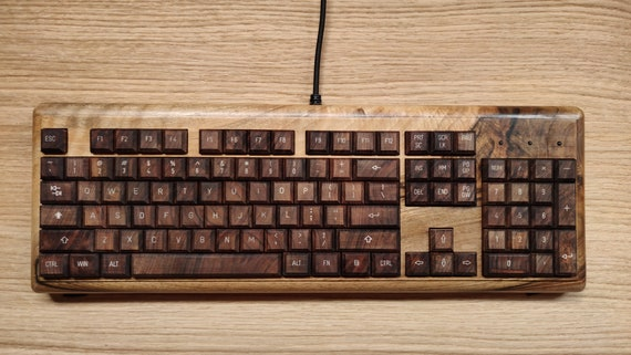 CroLander Wooden Keyboard -  Walnut Ultimate