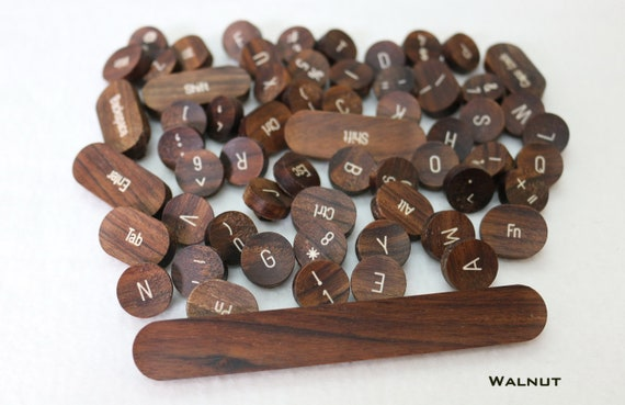 Wooden Typewriter Keycaps (Cherry MX switch compatible) Vintage style