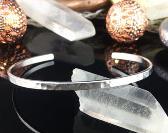 Silver Cuff Bracelet, Silver Bracelet, Hammered Bracelet, Hammered Silver Bracelet, Silver Bracelet, Cuff Bracelet, Hammered Cuff Bracelet