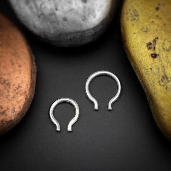 Omega Septum Ring Septum Piercing 18 Gauge Septum Jewelry Etsy