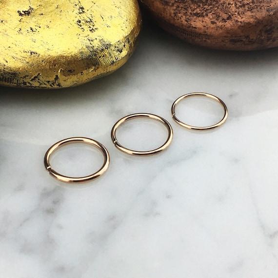 Rose Gold Titanium Nose Ring, Titanium Septum, Custom Septum Hoop, Rose  Gold Nose Hoop, Titanium Body Jewelry, Hypoallergenic Titanium Ring