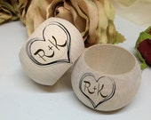 Personalized Wooden Napkin rings wedding accessories home decor kitchen decor housewarming gift personalized gift idea