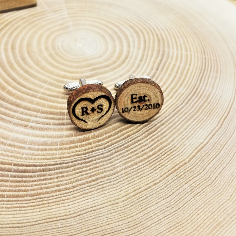 Wooden cufflinks  Groom Cufflinks  Personalized Cufflinks  Personalized Wedding Cufflinks  Cufflinks for Groom  Groom Gifts