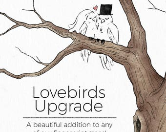 Lovebirds Wedding Guestbook Upgrade - Perfect addition to any of our fingerprint tree wedding guestbooks!