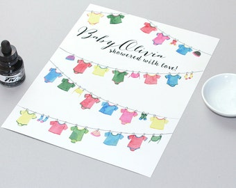 Baby Shower Favor - Baby Shower Sign In Book is the perfect as a baby shower gift.