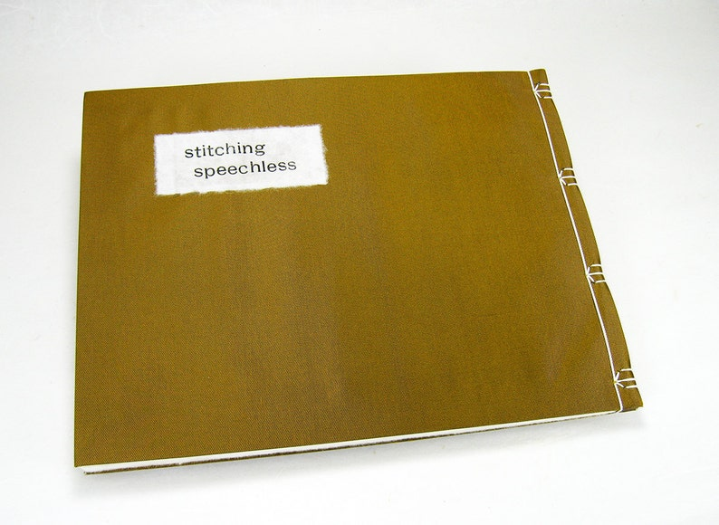 Artist's book: stitching speechless image 0