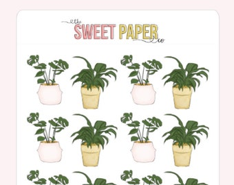 House Plant Planner Stickers