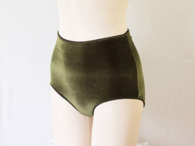 Green Velvet High Waisted Panties  Velvet Lingerie Velvet  5a8b6fbea