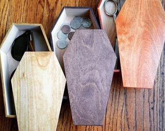 Shellac Finish Coffin Box