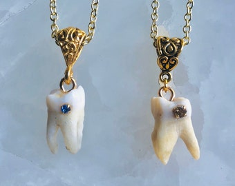 Gold Crystal Cavity Necklace