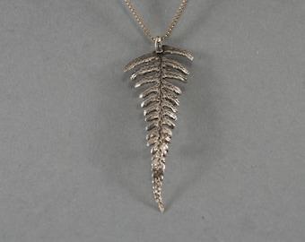 Maidenhair Fern Necklace or Brooch ,Fiddlehead Fern pendant,Fern Leaf Pendant Gypsy Nature Pendant