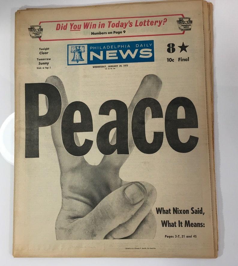 Vietnam War Over 2 Philadelphia Daily news Papers