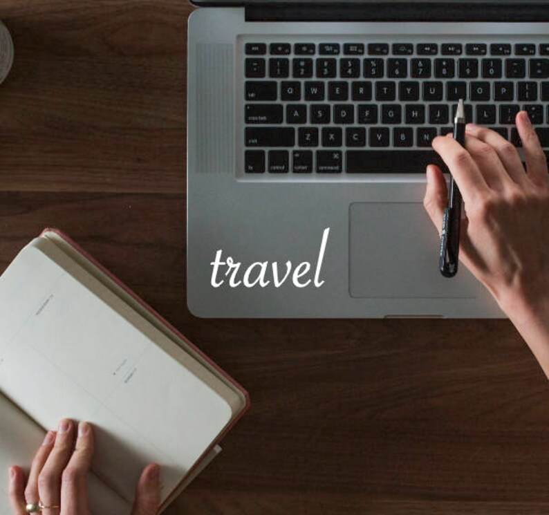 18b918951abc Travel Vinyl Decal Bumper Sticker for Laptop, Car, Macbook, Phone, etc.