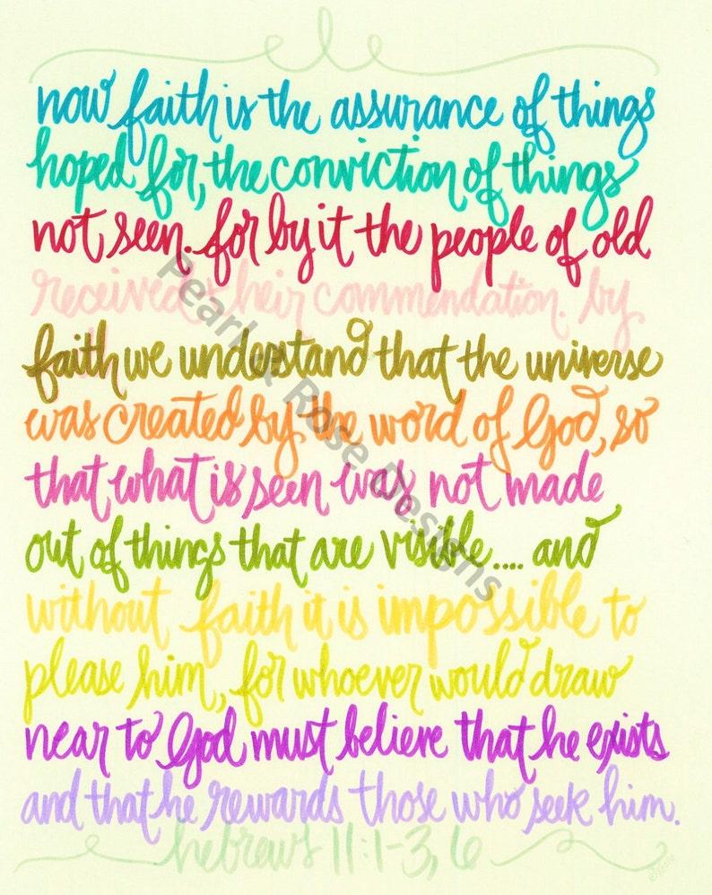 Hebrews 11:1-36 Rainbow Color Pallet Bible Verse Printable image 0