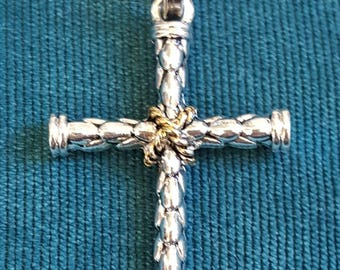 Cross pendants etsy silver cross pendant large antique silver cross pendants necklace christian religious faith jewelry gifts spiritual gifts catholic cross aloadofball Image collections