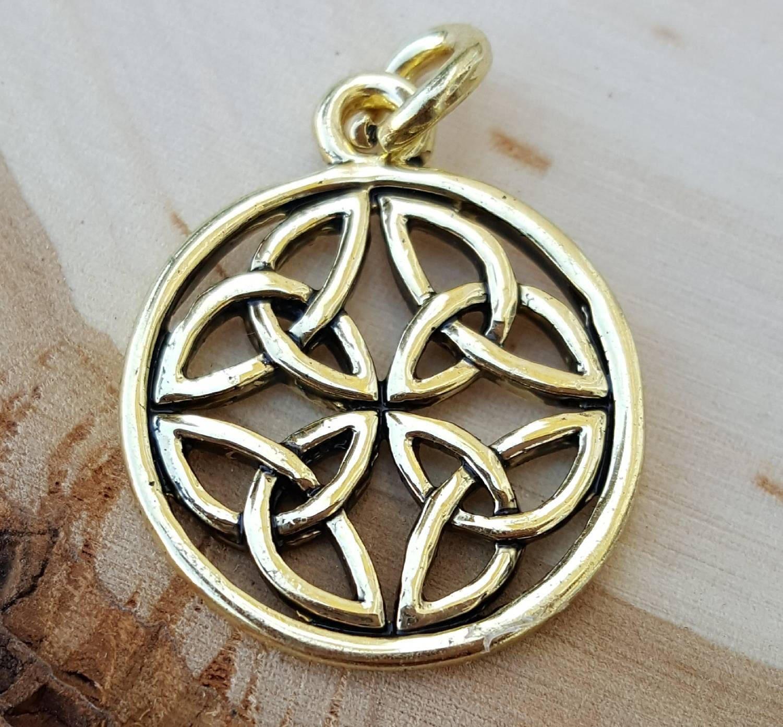 14k Gold Plated Celtic Symbol Infinity Love Knot Charm Etsy