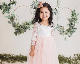 f23e6a07c20 White Lace Flower Girl Dress