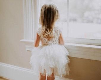 7f95d51dfb White Lace Infant Flower Girl Dress