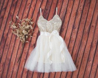 95f21842348 Ivory Tulle Tutu Flower Girl Dress