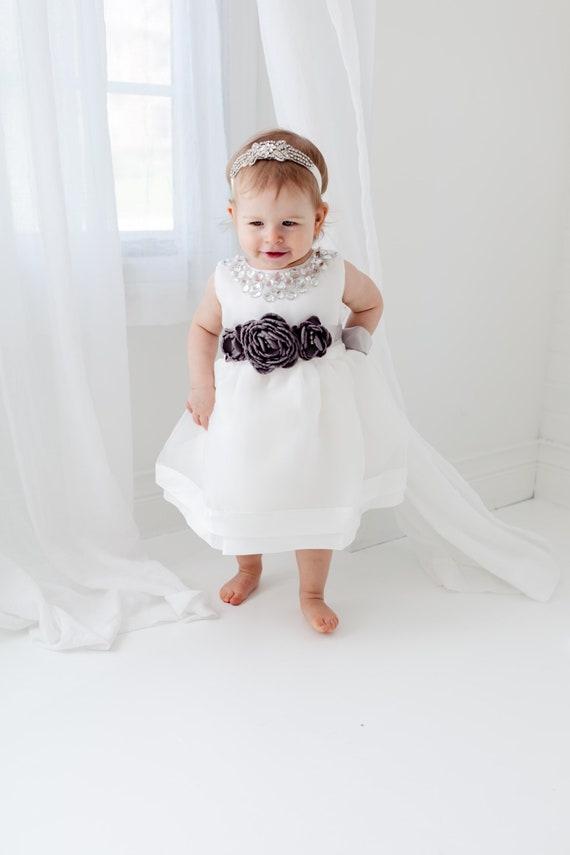 Girl Baptism Dress, Baby Flower Girl Dress, Flower