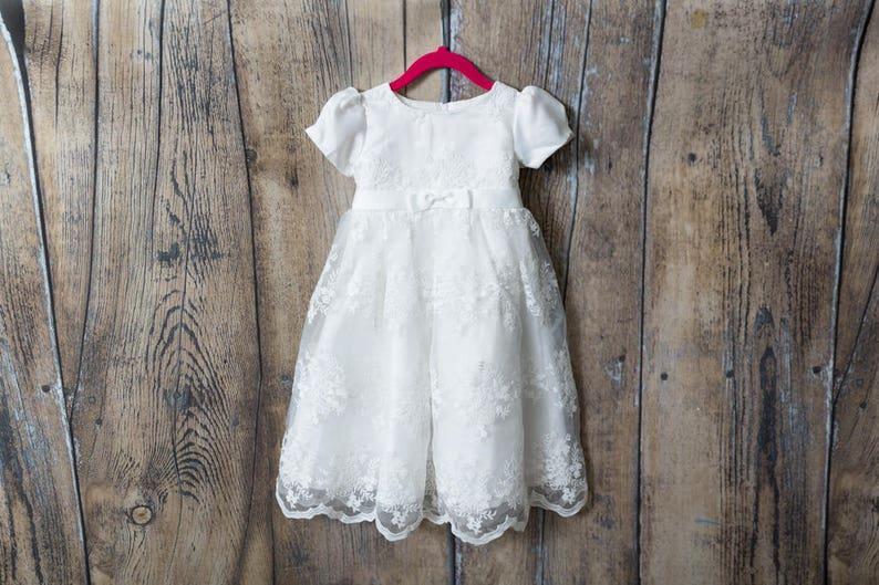 160f83e25 White Lace Christening Gown Newborn Baby Blessing Dress