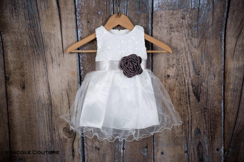 f58c08fe091f White Sequin Newborn Infant White Tulle Baby Dress Tulle | Etsy