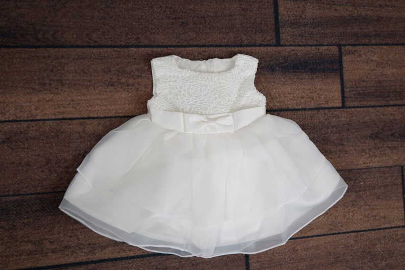 192c329b2 White Lace Baby Christening Gown Newborn Infant Tulle Wedding