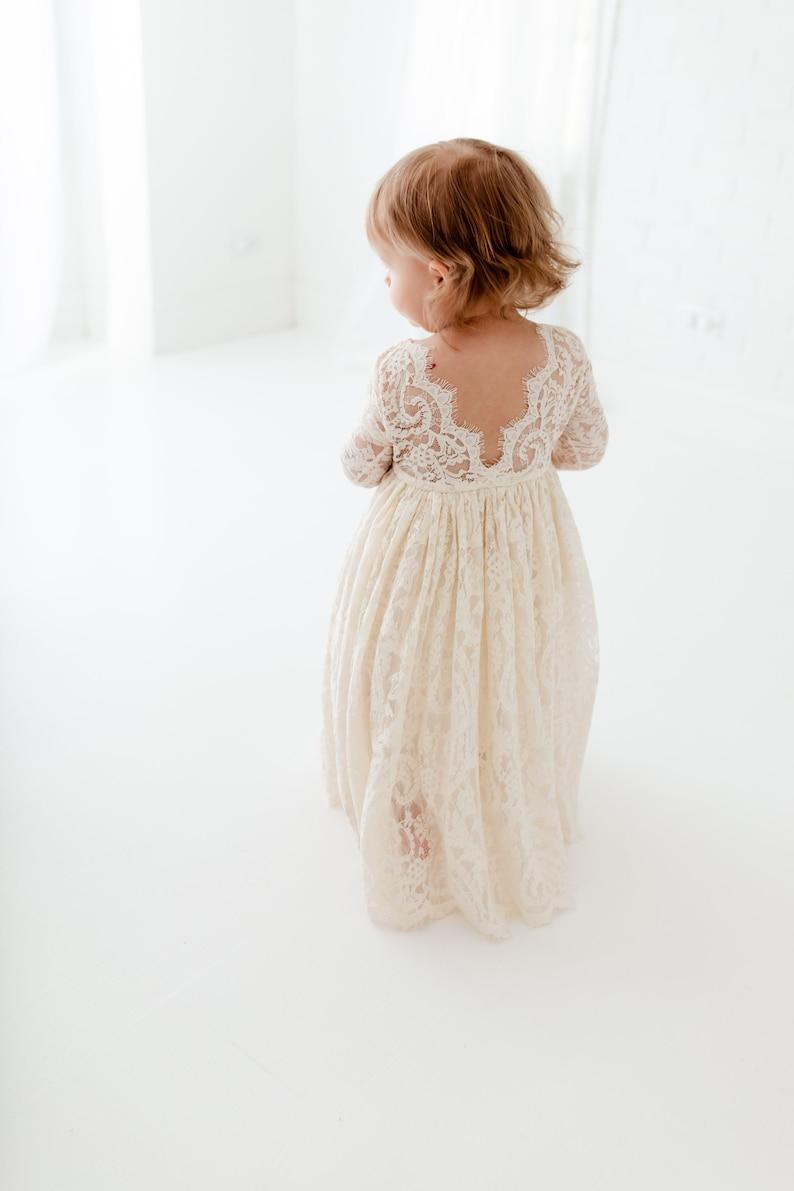 Boho Ivory Blumenmädchen Kleid, Rustikales TüllHochzeitskleid, Will you be  my flower girl proposal, Boho Dresses