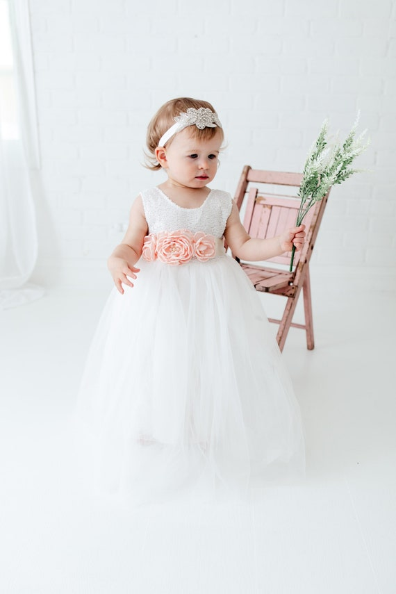 Toddler Tulle Flower Girl Dress, Baby Princess Dre
