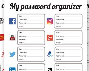 picture about Password Sheet Printable called Pword sheet Etsy