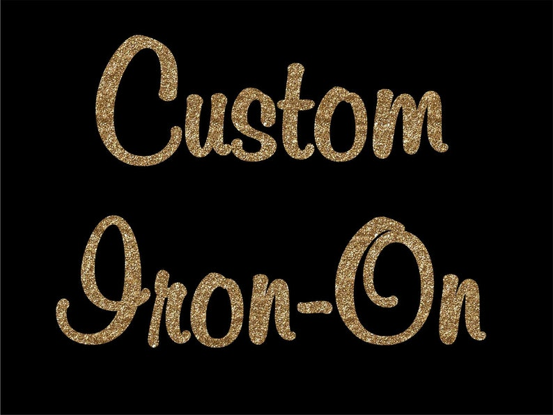 12620f8b0 Custom Iron On Decal Transfer Custom Design Your Design | Etsy