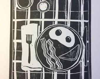 Diner Breakfast Greeting Card
