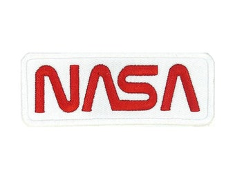 Nasa Logo Rectangle Gold and Black Uniform Patch