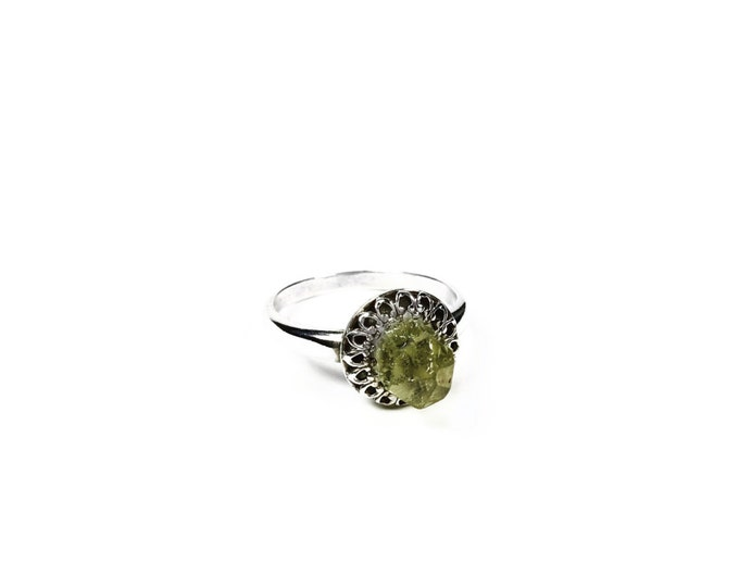 Sterling Silver Crystal Ring - Hippie Jewelry - Crystal Jewelry - Hippie Rinfñ