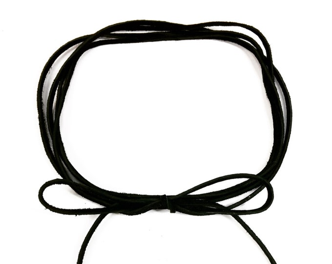 Black Suede Choker - Suede Cord Choker - Wrap Around Choker - Tie Up Choker - 90s Fashion - Grunge Fashion - Retro - Handmade Jewelry