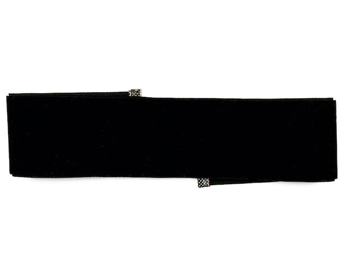 Black Suede Choker - Thick Black Choker - Suede Choker - 90s Fashion - Grunge - Trendy - Retro Fashion - Handmade Jewelry - Necklace
