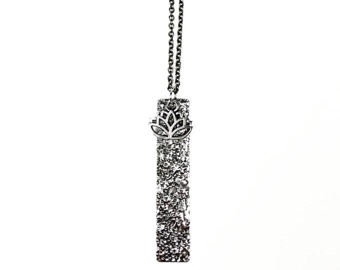 Antique Silver Lotus Necklace
