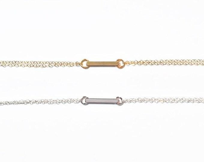 Minimalist Bar Bracelet - Minimalist Jewelry - Petite Bracelet - Modern Jewelry - Trendy Jewelry - Bar Bracelet
