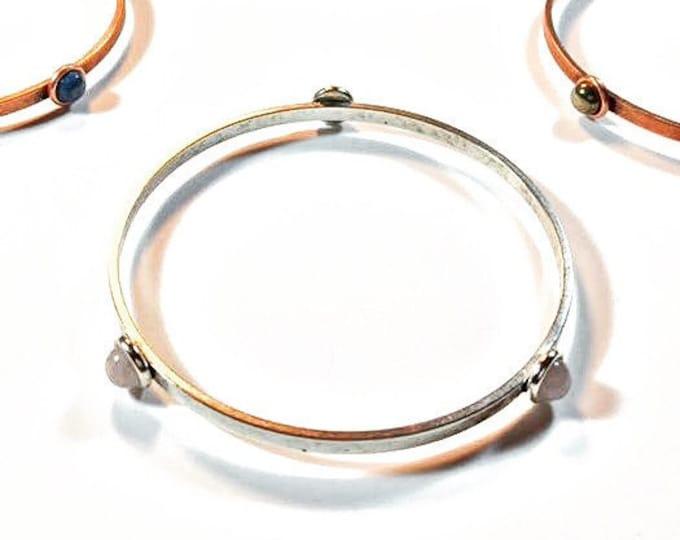 Gemstone Bracelet - Rose Quartz - Gemstone Jewelry - Minimalist Bracelet