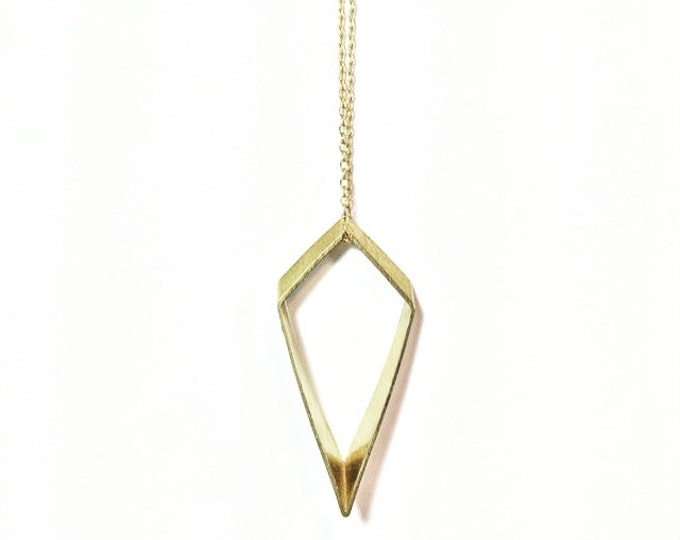 Gold Minimalist Necklace - Gold Geometric Charm Necklace - Petite Charm Necklace