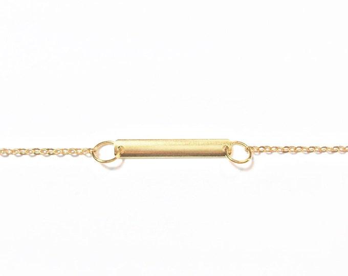 Gold Bar Bracelet - Minimalist Bracelet - Petite Bracelet - Minimalist Jewelry - Bar Bracelet - Modern Jewelry