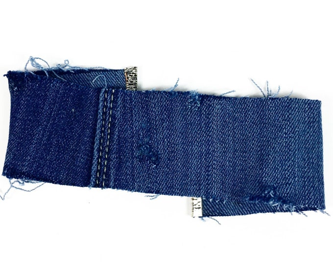 Blue Denim Choker - Blue Jean Choker - 90s Fashion - Trendy - Chic - Handmade Choker - Retro - Rocker Fashion - Blue Choker - Grunge Fashion